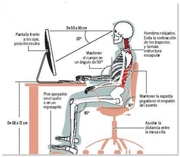 Fisioterapia valencia recomendaciones generales para una for Sillas para una buena postura